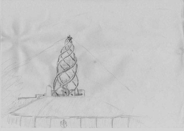 Eine einzelne Kohte, das typische Zelt der meisten Pfadfinderstämme